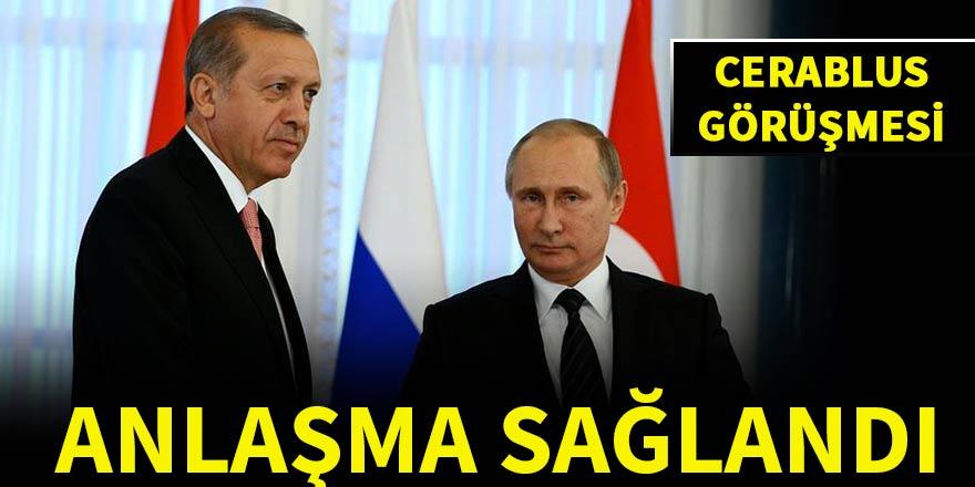 """Erdoğan, Putin'le """"Fırat Kalkanı"""" operasyonunu görüştü"""