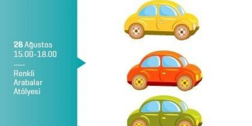 Minikler rengarenk arabalar tasarlayacak