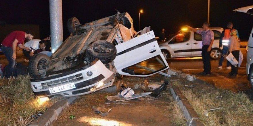 Şehit cenazesine giden aile trafik kazası geçirdi: 5 yaralı