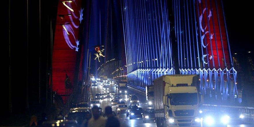 Yavuz Sultan Selim Köprüsü'nde araç geçişleri başladı