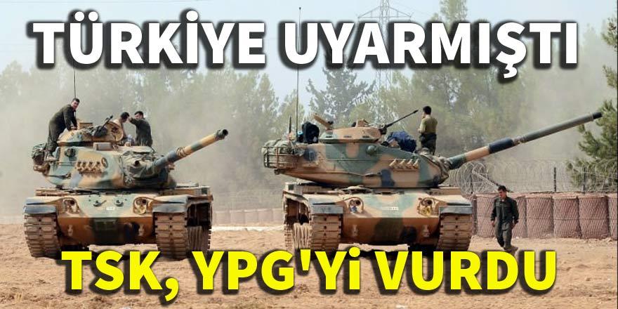 Türk Silahlı Kuvvetleri YPG'yi vurdu