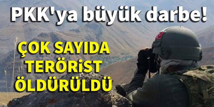PKK'ya büyük darbe, çok sayıda terörist öldürüldü