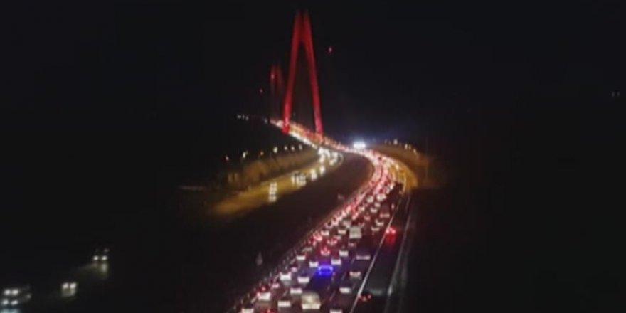 Yavuz Sultan Selim Köprüsü'nde yoğun trafik