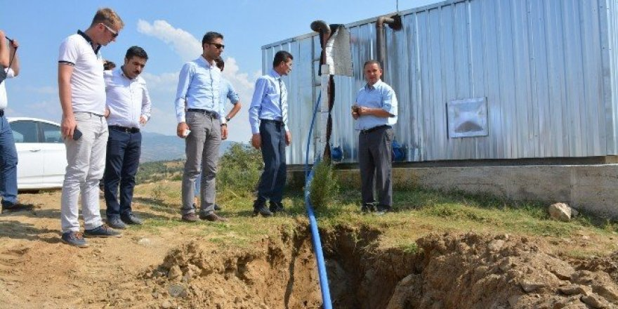 Kula'ya 13 bin 400 metrelik içme suyu hattı