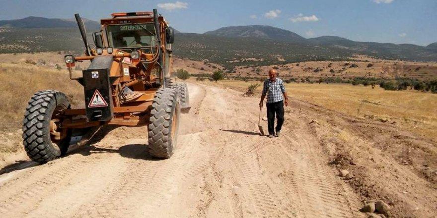Seydişehir'de arazi yolu çalışmaları