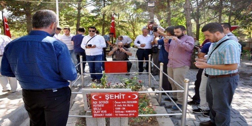 Kdz. Ereğli'deki din görevlileri Şehit Halisdemir'in şehitliğini ziyaret etti
