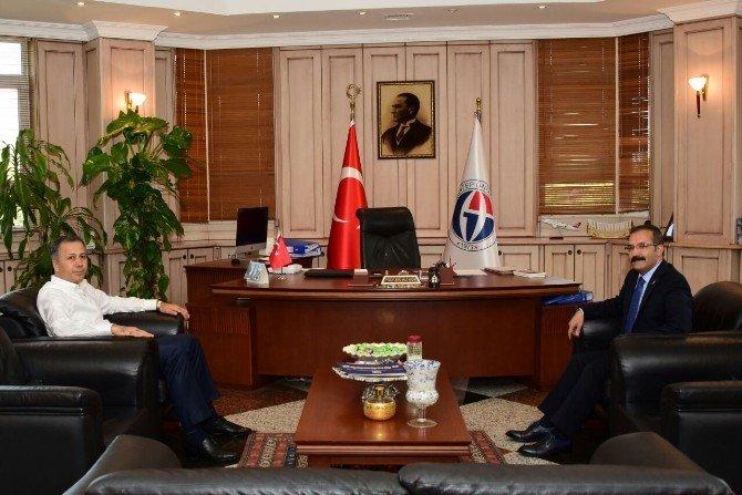 Vali Ali Yerlikaya'dan Rektör Gür'e ziyaret