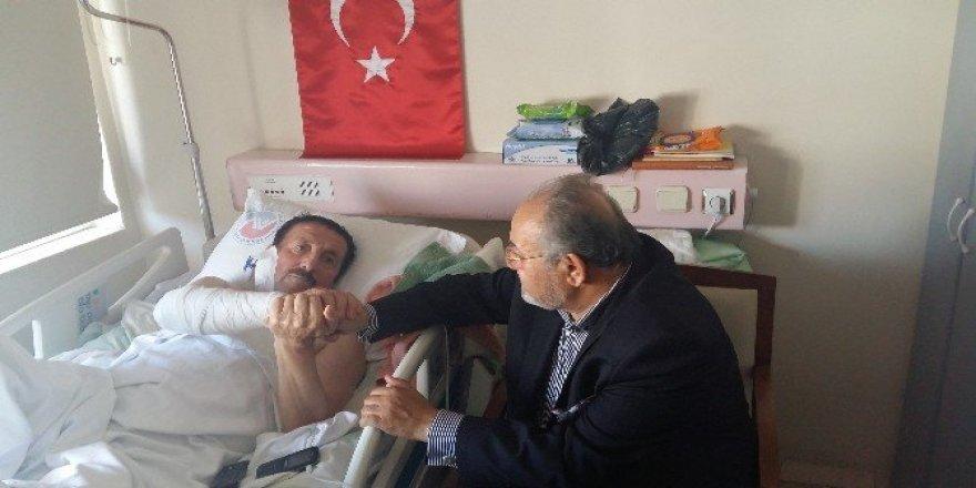 Milletvekili Uslu Yaralı Polis'i Ziyaret Etti