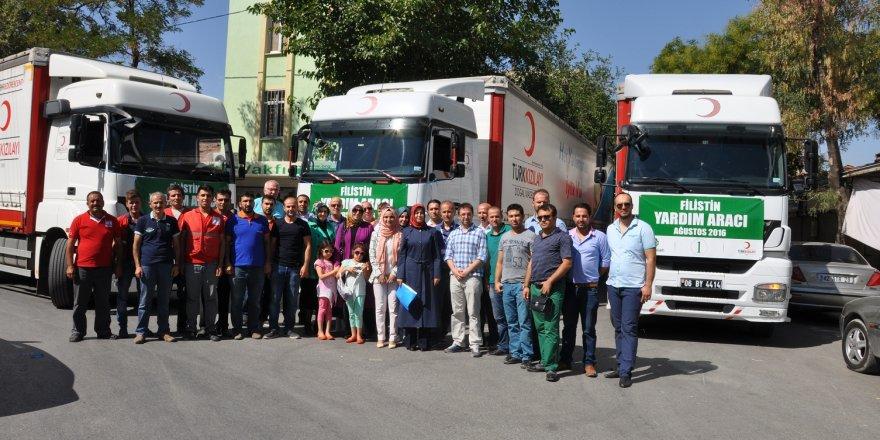 Konya'dan Gazze'ye üç tır yardım eli