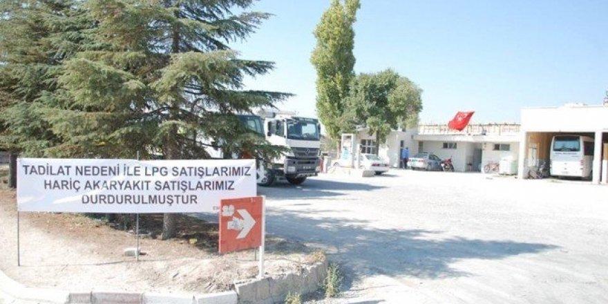 Eskil Belediyesi'ne ait akaryakıt istasyonu yenileniyor