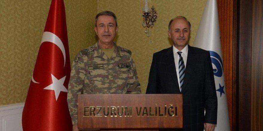 Genelkurmay Başkanı Orgeneral Akar Erzurum'da