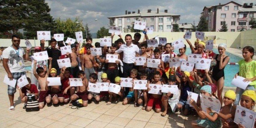 Seydişehir Belediyesi yüzme kursları sona erdi