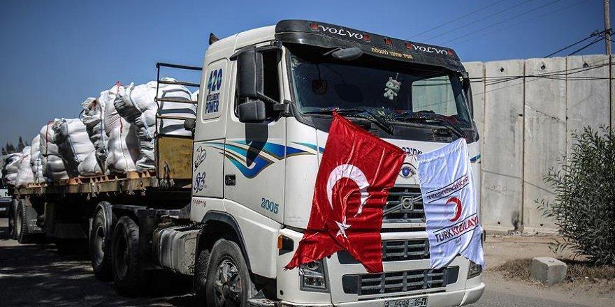 Gazze'ye Türkiye'den gönderilen yardımların dağıtımı tamamlandı