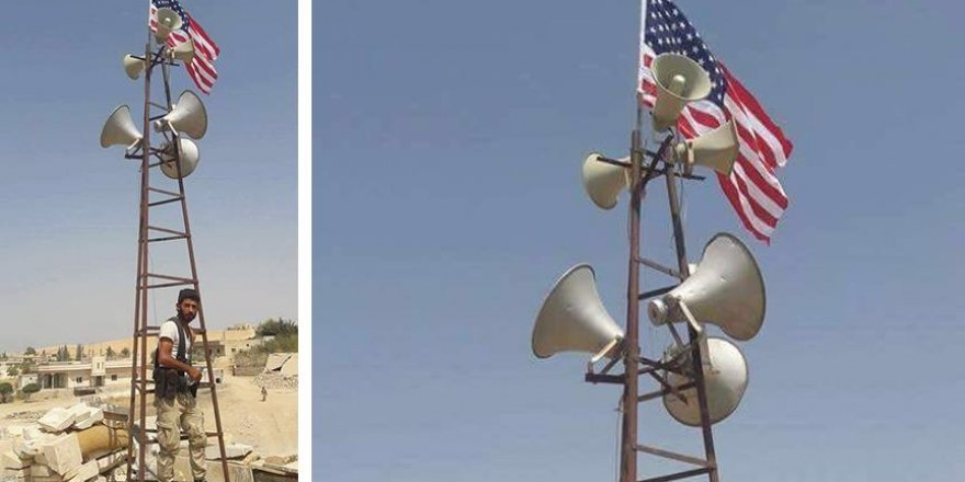 PYD/PKK militanları ABD bayrağını kalkan olarak kullanıyor