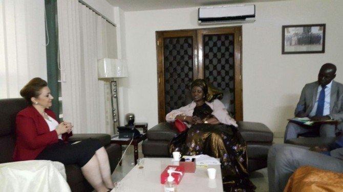 SANKON Başkanı Atasoy, Bakan Sarr ile görüştü