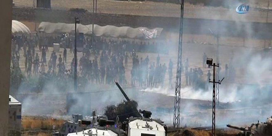 Kobani sınırında olaylar çıktı! Yaralılar var