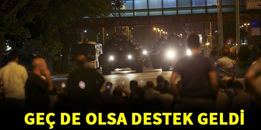 Darbe girişimine karşı dünyadan Türkiye'ye destek