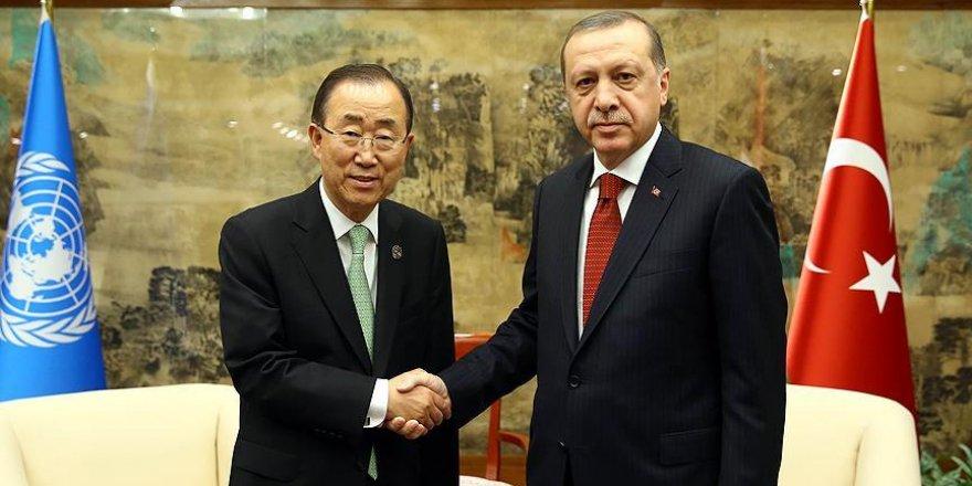 Erdoğan, BM Genel Sekreteri Ban Ki-mun'la görüştü