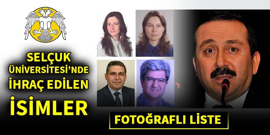 Selçuk Üniversitesi'nde ihraç edilen akademisyenler (FOTO LİSTE)