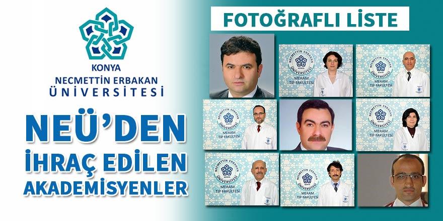 NÜE'de ihraç edilen akademisyenler (FOTO LİSTE)