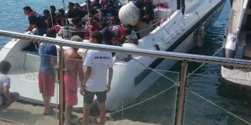 Antalya'da 58 kaçak ve sığınmacı yakalandı