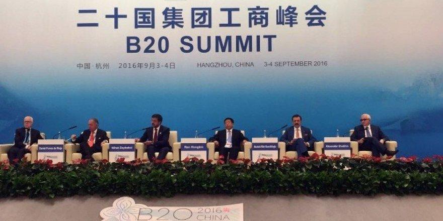 """Hisarcıklıoğlu Çin'de """"Ticaretin önünü açmalıyız"""" mesajı verdi"""