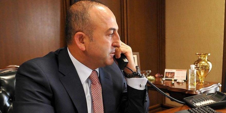 Çavuşoğlu'ndan Meşal'e taziye telefonu