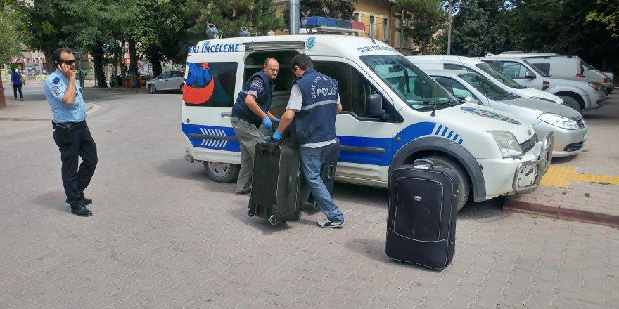 Konya'da bomba ihbarı yapılan trenden 15 kilo esrar çıktı