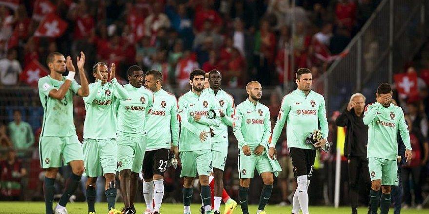 Avrupa şampiyonu Portekiz İsviçre'ye yenildi