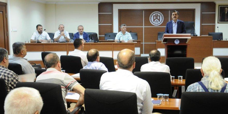 KTO'da meslek komiteleri istişare toplantıları sürüyor