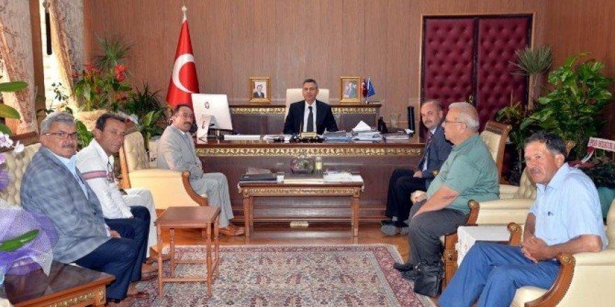 Vali Elban'a ziyaretler devam ediyor