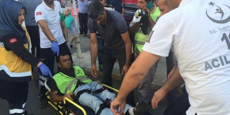 Otomobil park görevlisine çarpıp kaçtı: 1 yaralı