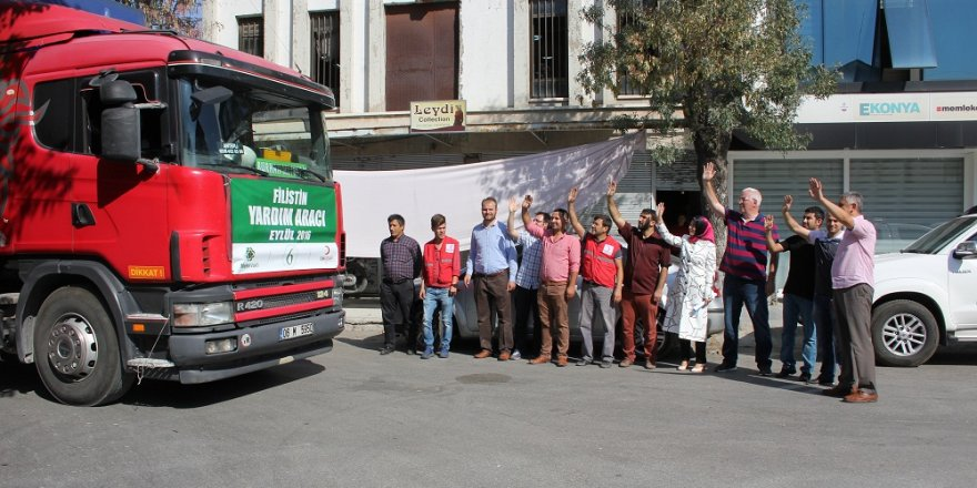 Konya'dan Filistin'e yardım