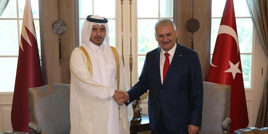 Yıldırım Katar Başbakanı Al Sani ile bir araya geldi