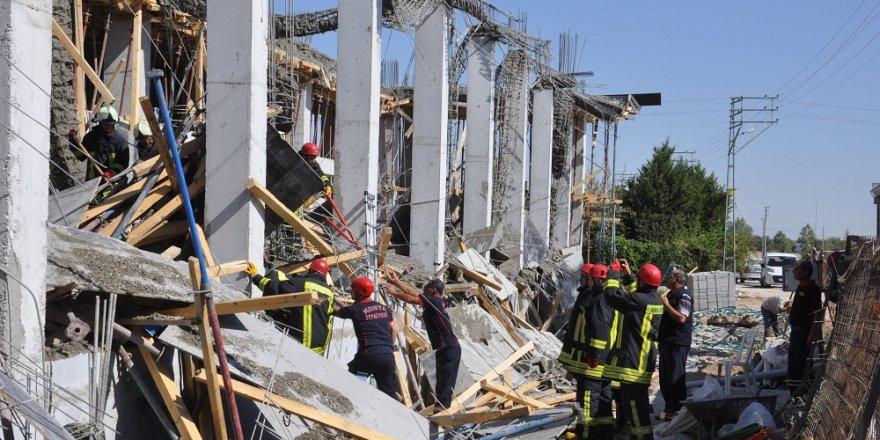 Konya'da okul inşaatında göçük: 1 ölü, 1 yaralı
