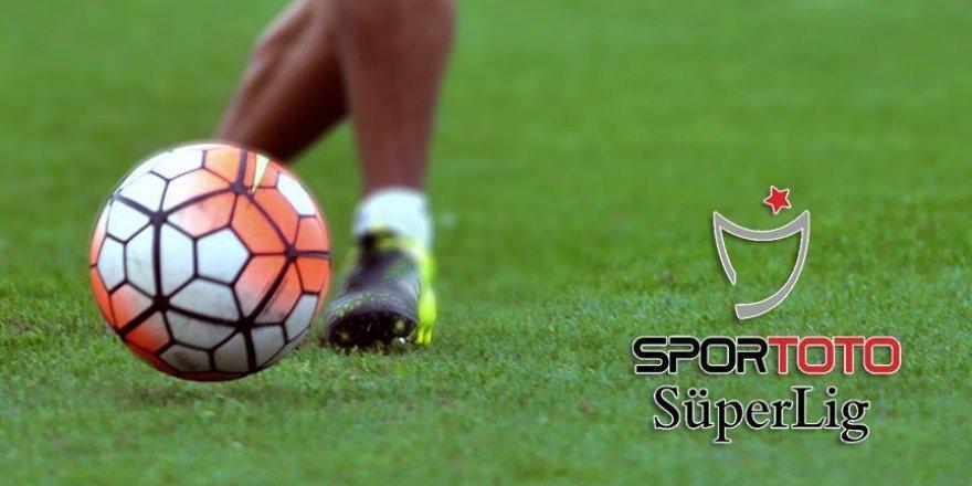 Spor Toto Süper Lig'de haftanın programı belli oldu