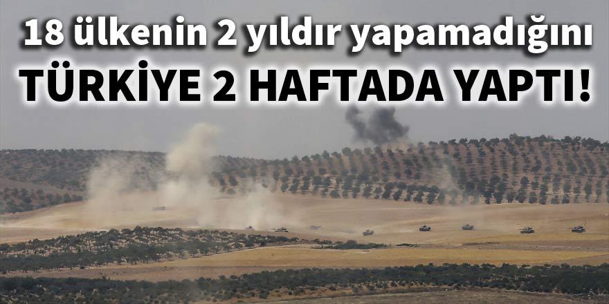 18 ülkenin 2 yıldır yapamadığını Türkiye 2 haftada yaptı!