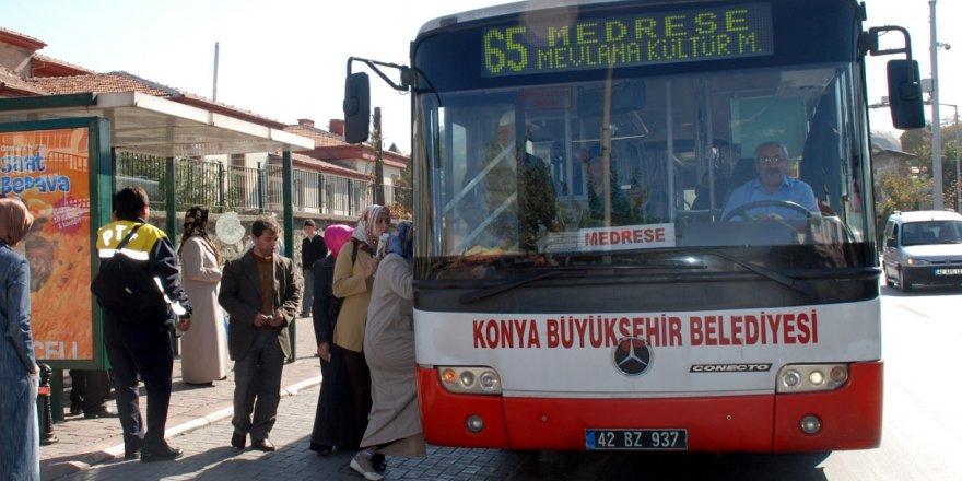 Konya'da toplu ulaşım bayramda ücretsiz