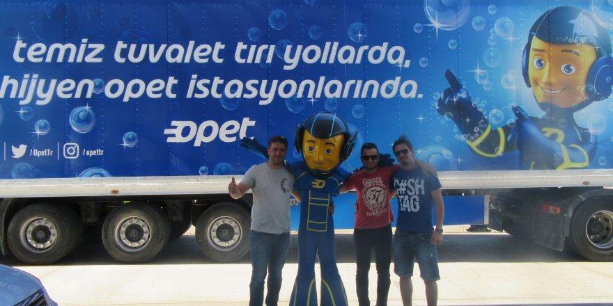 OPET Temiz Tuvalet Tırları Konya'da devam ediyor