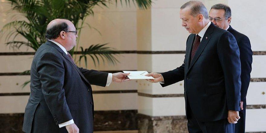 Erdoğan, Şili Büyükelçisi Silva'yı kabul etti