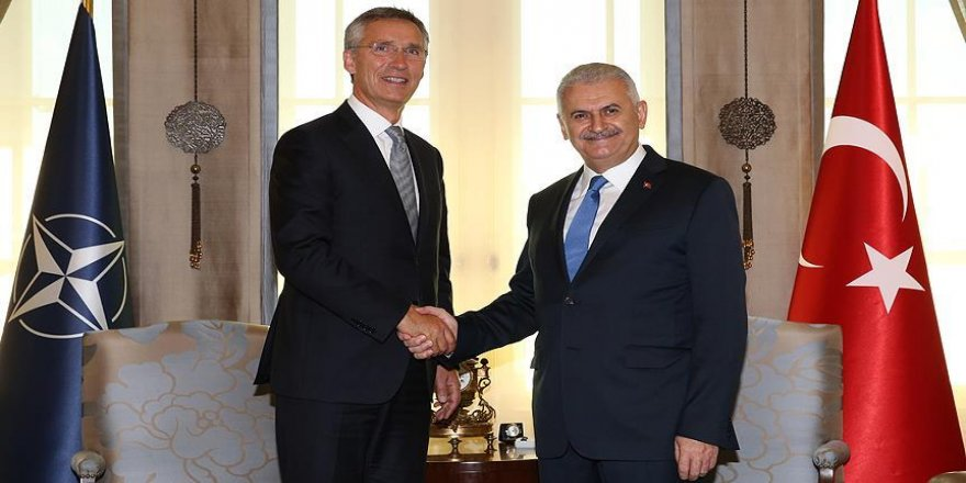 Yıldırım NATO Genel Sekreteri'ni kabul etti