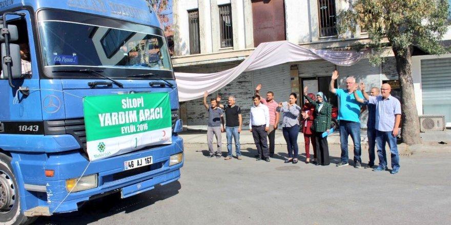 Konya'dan Silopi'ye yardım tırı
