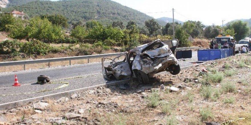 Milas'a yeni atanan komiser kazada şehit oldu