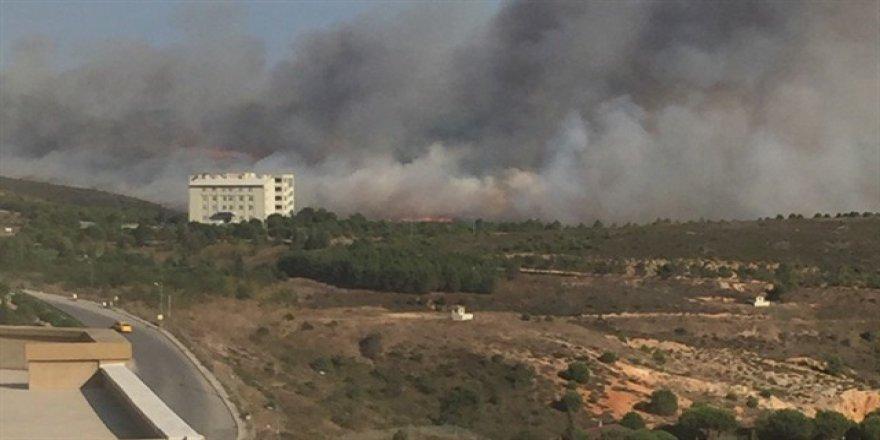 Tuzla Piyade Okulu'nda büyük yangın