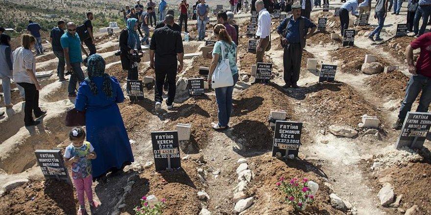 Terör saldırısında yaşamını yitirenler ziyaret edildi