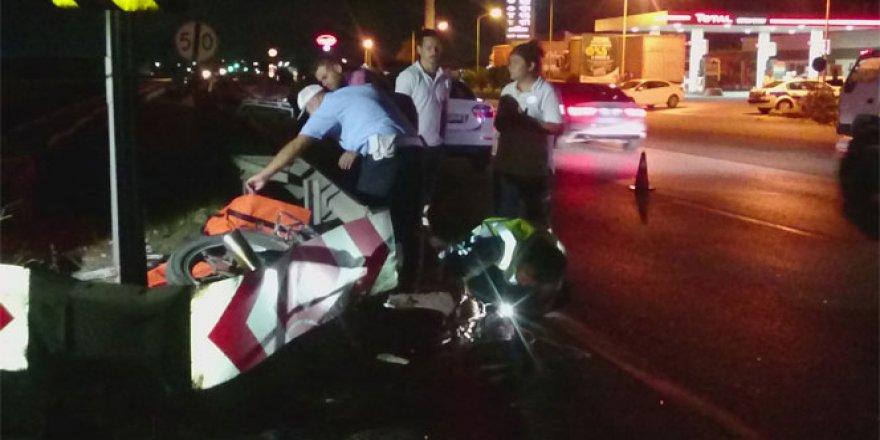 Otomobil ile motosiklet çarpıştı: 2 ölü