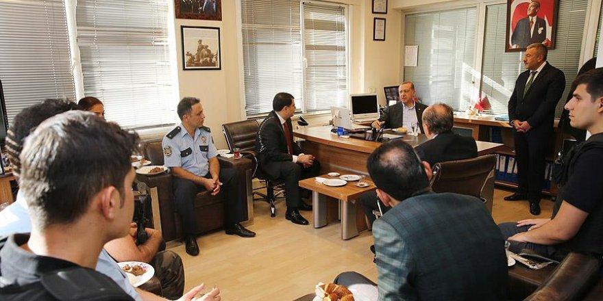 Erdoğan, Şehit Kemal Aykut Genç Polis Merkezi'ni ziyaret etti