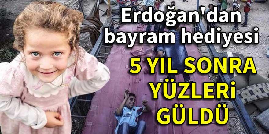 Erdoğan'dan Suriyelilere bayram hediyesi