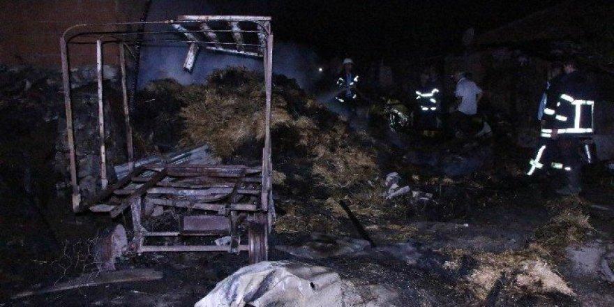 Amasya'da ahır yangını: 6 hayvan telef oldu