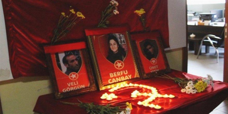 Öldürülen terörist için HDP binasında anma töreni